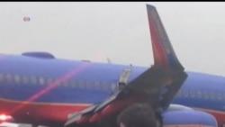 2013-07-23 美國之音視頻新聞: 西南航空客機起落架折斷最少10人受傷