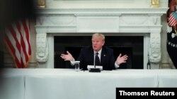 El presidente Donald Trump durante un evento en Washington el 18 de mayo de 2020.