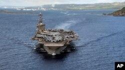 အေမရိကန္ ေလယာဥ္တင္စစ္သေဘၤာ USS Theodore Roosevelt. (ဇြန္ ၄၊ ၂၀၂၀)
