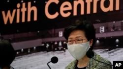 ہانگ کانگ کی چیف ایکزیکٹو کیری لیم پر بھی امریکی پابندیاں عائد ہو گئی ہیں۔