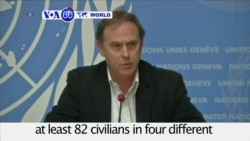 VOA60 World - UN: Reports Pro-Syrian Forces Killed 82 Civilians in Aleppo