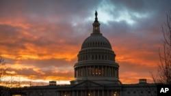 资料照片:美国国会大厦(2019年1月24日)