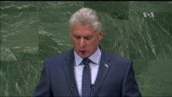 Cuba pide fin del embargo de EE.UU. ante la ONU