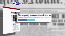 VOA60 Elections - Politico: Hillary Clinton's campaign has crafted a policy that resonates to many of Silicon Valley's top priorities