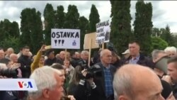 Građani razočarani u pravosuđe protestovali ispred VSTV-a
