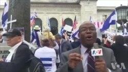 Manifestasyon sitwayen Nikaragwa devan OEA