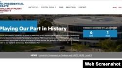 Loyola Marymount University is advertising the Democratic debate on its website.