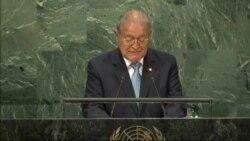 Sánchez Cerén aboga por la paz en ONU