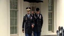 美國士兵接受軍人最高榮譽勳章