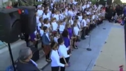 Pagelaran Angklung Siswa SD di Washington DC