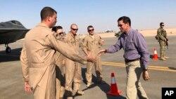 El secretario estadounidense de Defensa, Mark Esper, realiza una visita a Bagdad, Irak.