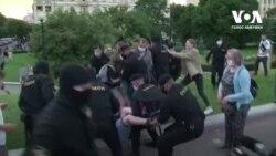 Жорсткі затримання на акціяx протесту у Мінську. Відео