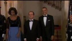 2014-02-12 美國之音視頻新聞: 奧巴馬國宴款待法總統奧朗德