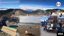Conjunto de imágenes de atracciones turísticas de Costa Rica, septiembre 24 de 2020. Fotos Armando Gómez/VOA.