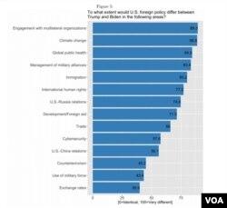 윌리엄앤메리 대학 '글로벌 리서치 인스티튜트'의 TRIP이 미국 국제학 교수들을 대상으로 설문조사를 했다. (보고서 캡처)
