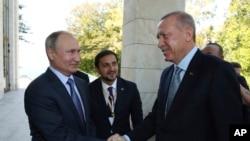 Президенти Росії і Туреччини, Путін та Ердоган на зустрічі в Сочі 22 жовтня 2019 р.