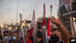Protestoyên dijî hikûmetê, Beyrut, 17 Cotmeh, 2020