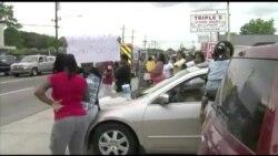 路易斯安那州200多人上街抗议警察枪杀黑人
