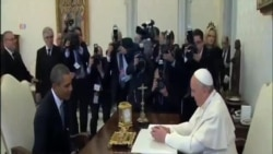 奧巴馬和教宗首次會面
