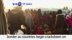 VOA60 World - Greek authorities appear to be trying to slow the flow of refugees