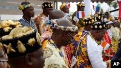 Des chefs traditionnels ivoiriens