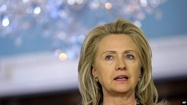 US Secretary of State Hillary Rodham Clinton (file photo).