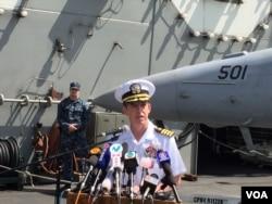 """""""里根号""""航母打击群指挥官的马科.达尔顿海军少将"""