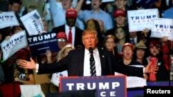 Le candidat républicain à la présidentielle, Donald Trump, 8 novembre 2016.