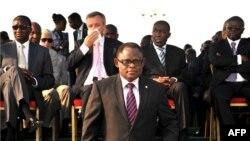 Isidore Ndaywel, le Président du comité organisateur de l'Organisation internationale de la francophonie, à Kinshasa, le 12 octobre 2012.