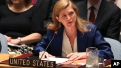 U.S. Ambassador to the United Nations Samantha Power. (File)