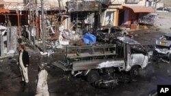21일 차량 폭탄테러가 발생한 파키스탄 퀘타 현장(자료사진)