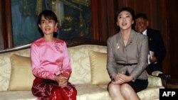 Đây là cuộc gặp đầu tiên của lãnh tụ phe đối lập Miến Điện với một người đứng đầu chính phủ kể từ khi bà được phóng thích.