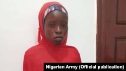 Salomi Pugo, dalibar Chibok da sojoji suka kubutar alhamis 4 Janairu 2018