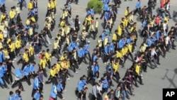 蒙族学生在内蒙锡林浩特抗议示威