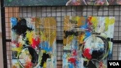 """Obra de artista plástica angola, Fineza Teta - Exposição: """"As Expressões de Uma Artista em Confinamento"""""""