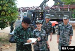 中国军队参与2017金色眼镜蛇联合演练人道援助项目(泰国军方照片)
