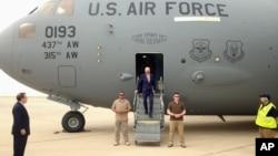 Джо Байден прибыл в Багдад, Ирак. 28 апреля 2016 г.