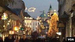 Ljubljana, Slovenia. (L. Ramirez/VOA)