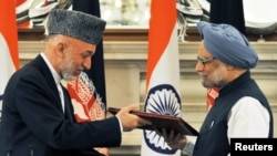 کرزی فهرستی از نیازمندی های نظامی افغانستان را به هند سپرده است