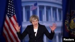 Amerika'ya İngiltere Başbakanı olarak ilk ziyaretini düzenleyen Theresa May, Philadelphia'da Cumhuriyetçi Partili Kongre üyelerinin yıllık toplantısına katılarak konuşma yaptı.