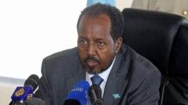 Somalia's President Hassan Sheikh Mohamud in Mogadishu (AP Photo/Farah Abdi Warsameh)
