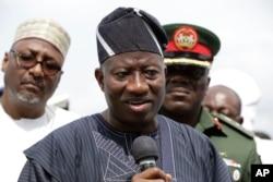 FILE - Nigerian president Goodluck Jonathan.