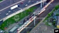 Xe lửa chở khách trên tuyến New York-Boston ở miền đông nước Mỹ.