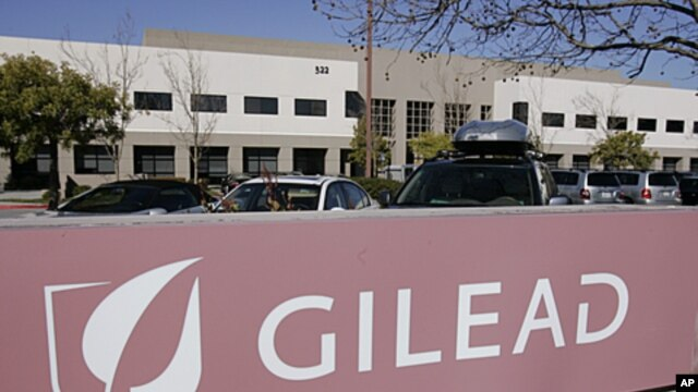 Gilead Sciences Inc. headquarters in Foster City, California, March 12, 2009 (file  photo)