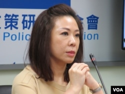 台湾在野党国民党立委李彦秀(美国之音张永泰拍摄)