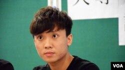 香港大學學生會會長黃政鍀。(美國之音湯惠芸拍攝)