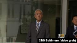 Ông Nghia Hoang Pho xuất hiện ở tòa liên bang ở thành phố Baltimore, bang Maryland, ngày 25/09/2018. (CBS Baltimore)