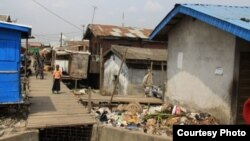 A section of the Badia East community in Lagos, Nigeria, before the forced eviction on February 23, 2013. (Social and Economic Rights Action Center)