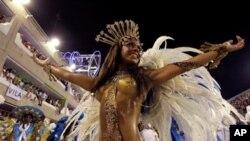 Desfile da Escola de Samba Vila Isabel, no ano passado.