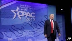 Prezident Donald Tramp konservativ jamoalar anjumani (Conservative Political Action Conference (CPAC)) da so'zlayapti.